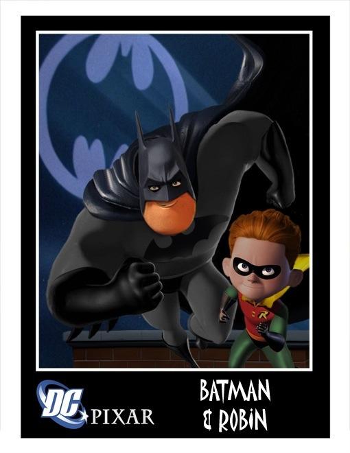 Pixar Batman and Robin