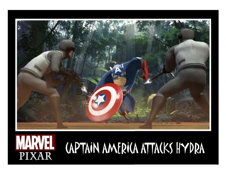 Pixar Captain America