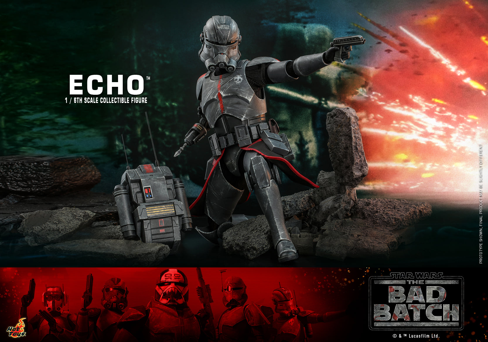 Pre-Order Hot Toys Star Wars Bad Batch Echo Sixth Scale Figure