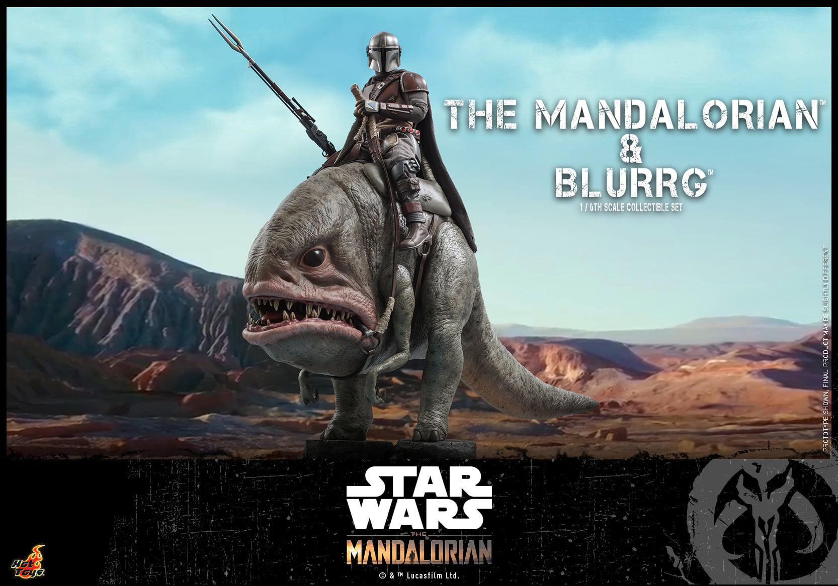 Pre-Order Hot Toys Star Wars The Mandalorian & Blurrg Set