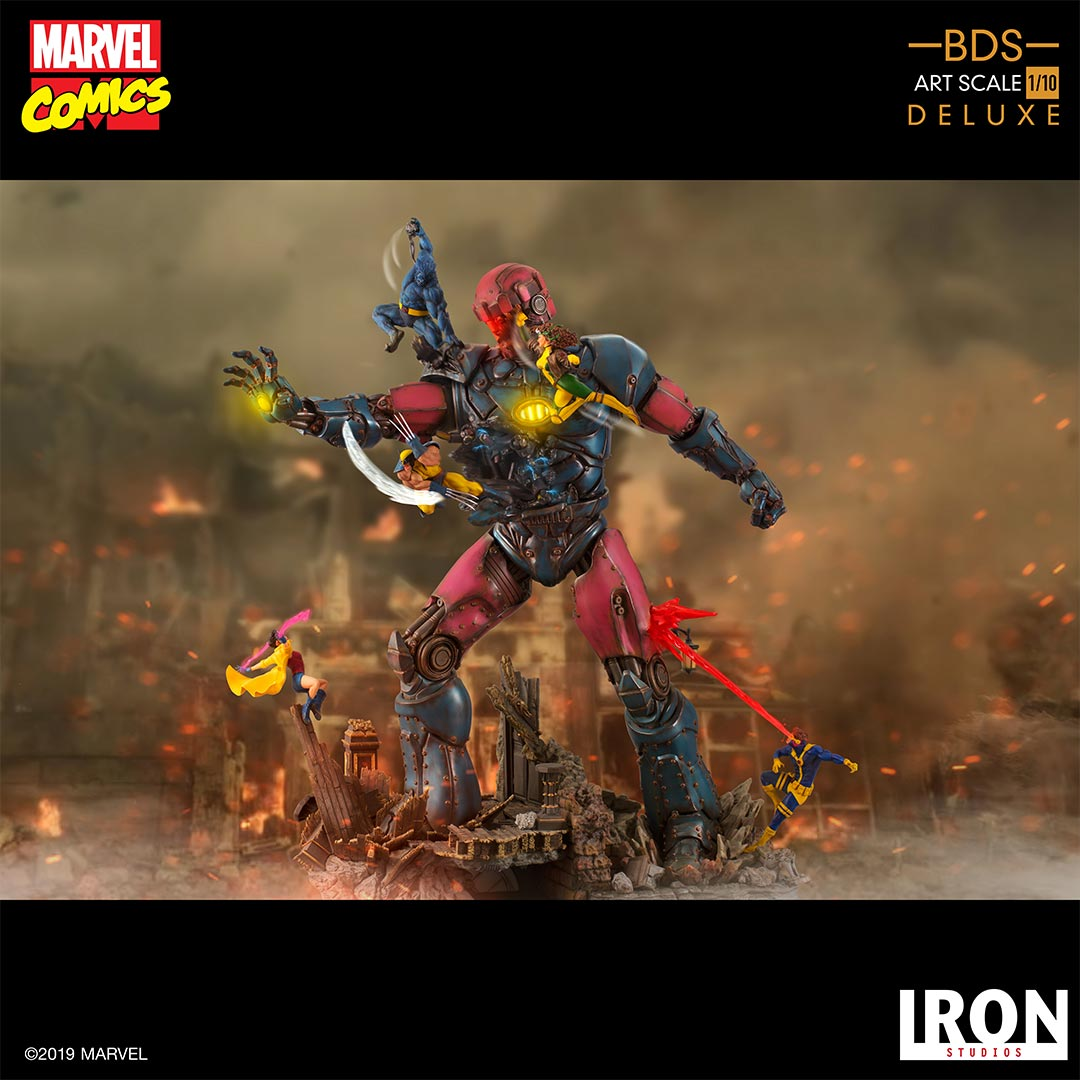 Iron Studios Marvel X-Men Vs. Sentinel #1 Deluxe Battle Diorama