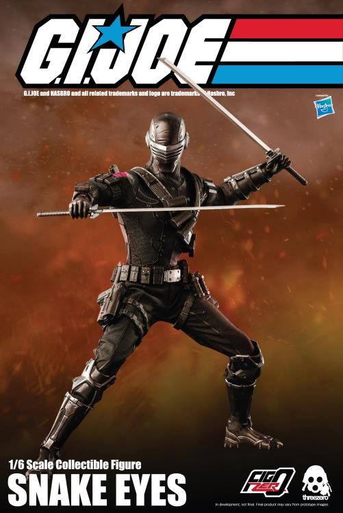 Pre-Order ThreeZero GI Joe Snake Eyes Sixth Scale Figure